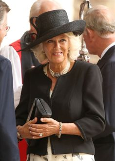 Camilla Parker Bowles Photos - Camilla, Duchess of Cornwall attends a memorial service for Mark Shand at St Paul's Church on September 2014 in London, England. - Memorial Service For Mark Shand Posh People, Royal C, Camilla Duchess Of Cornwall, Camilla Parker Bowles, Royal Fashion, Style Fashion, Queen Elizabeth Ii, Duke And Duchess, British Royals