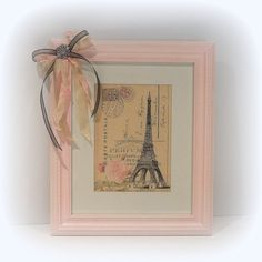 Paris Chic Wall Decor Shabby Chic Paris Decor---- would be fairly easy to diy the bow:)