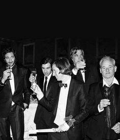 Wes Anderson, Adrien Brody, Jason Schwartzman, and Bill Murray