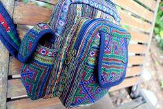 Tribal Backpack One Shoulder Design Ethnic by SiameseDreamDesign, #backpack #tribal #Hmong