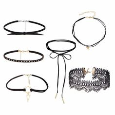 Tattoo Velvet Choker Necklace Set 1