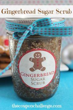 Gingerbread Sugar Scrub {Jar Gift Idea}