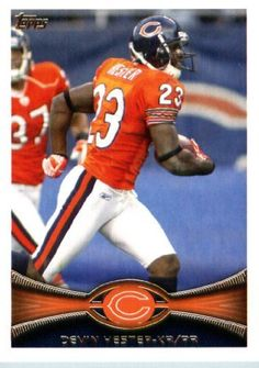 2012 Topps Football Card #303 Devin Hester - Chicago Bears (NFL Trading Card) by Topps. $1.89. 2012 Topps Football Card #303 Devin Hester - Chicago Bears (NFL Trading Card)