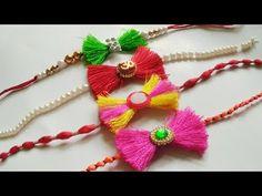 New Rakhi Design 09 Cool Paper Crafts, Quilling Paper Craft, Paper Crafts Origami, Handmade Rakhi Designs, Handmade Design, Diwali Decorations, Festival Decorations, Quilling Rakhi, Rakhi Making