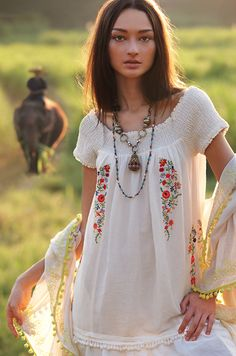 Smocked Malee Dress// March Catalog photo// Anthropologie