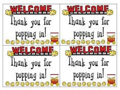 Open House - Popcorn Labels