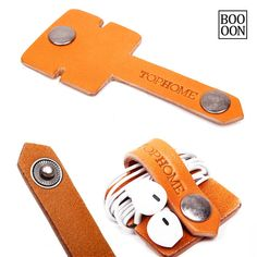 Convenient Leather Earphone Headphone Organizer With por Booooooon