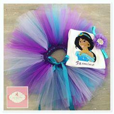 Embroidered Princess Jasmine tutu set