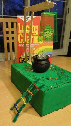 leprechaun trap ideas kids   ... kids found a message on the door … the start of a St. Patrick's