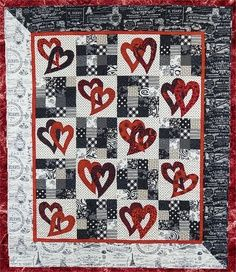 double heart quilt pattern | Quilts-Hearts