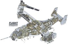Bell Boeing MV-22B BlockB Osprey Cutaway - Pictures & Photos on FlightGlobal Airspace