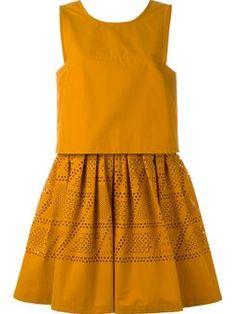 sleeveless laser-cut dress Fendi