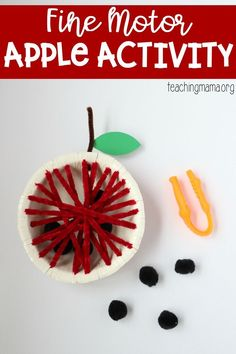 Fine Motor Apple Activity