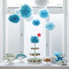 Candybar in tollen Blautönen...passend zur Strandlocation