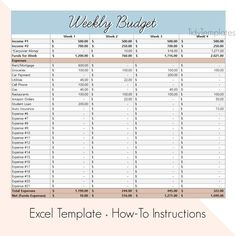 Weekly Budget Template, Weekly Budget Planner, Spending Tracker, Budget Sheets, Expense Tracker, Budgeting Finances, Money Management, Helpful Hints, Worksheets