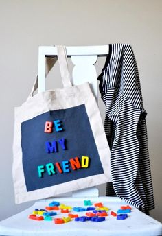 Ducklings In A Row - Hair + DIY Tutorials: I'm Inexplicably Drawn to You...DIY Magnetic Tote Bag