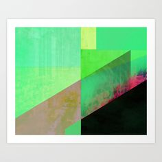 Green City Abstract Art Print by Amelia Senville | Society6