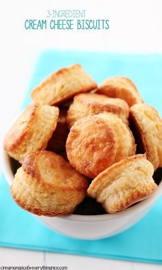 3-Ingredient Cream Cheese Biscuits - Tender little cuties with millions of flaky layers that melt in your mouth! Super easy and fast to make! cinnamonspiceandeverythingnice.com