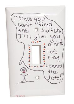 Sarcastic Funny Stick Figure Light Switch Cover By Nikkissticks 9 00
