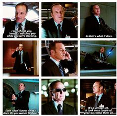 The Avengers...Agent Phil Coulson. He needs to be brought back. Make him into Harry Potter with the resurrection stone or something. That was all sorts of wrong, I hope they know. Total fail. Fury, do your super spy shit and make the man be alive, but in a coma or something. One he can wake up from.