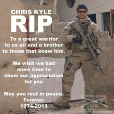 Following Death Of Greatest Military Sniper In American History – Obama Says NOTHING.  Obama has found time to mark the passing of people such as disco singer Donna Summer, and the brother of communist supported labor leader Cesar Chavez…but NO time to mark the death of Chris Kyle. 3/1/13