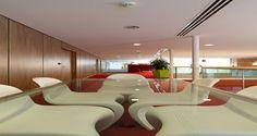Espace collaboratif dans les bureaux d'Heineken à Rueil-Malmaison, France