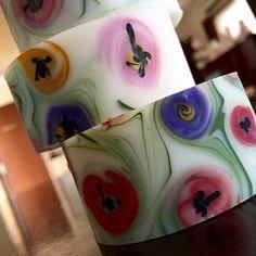 cold-process soap - flowers