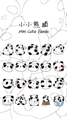 Kawaii Doodles, Cute Doodles, Kawaii Art, Cartoon Drawings, Cute Drawings, Animal Drawings, Panda Love, Cute Panda, Panda Drawing