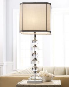 """""""Stacked Crystals"""" Table Lamp - Neiman Marcus"""