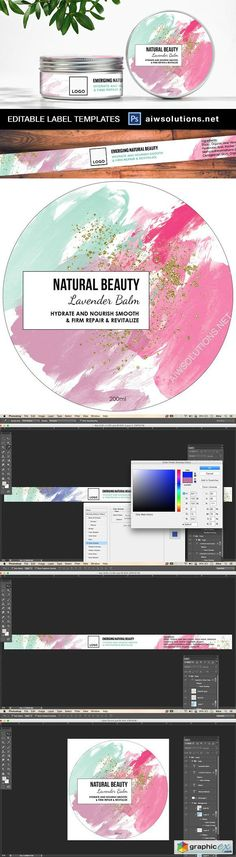 Watercolour Style Label  ID25  stock images