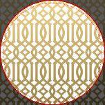 Gold and White Modern Trellis Pattern Dartboard With Darts | Zazzle