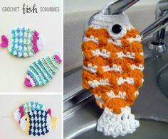 Crochet Fish Scrubbies Free Patterns