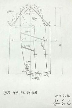 그리기 / 드로잉 / drawing /스케치/남성/ 남성복 / 패턴 /소매원형 패턴의정석 / 충돌이 / K.S.C