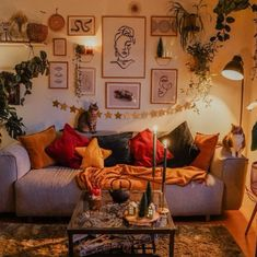 Warm and Cozy Living Room - Warm home decor Cozy Living Rooms, Home And Living, Living Room Decor, Bedroom Decor, Interior Design Living Room Warm, 70s Bedroom, Retro Living Rooms, Gothic Bedroom, Interior Office
