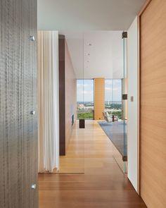 Waterview Condominium • Arlington, Virginia. Check out more of the interior at @robertgurneyarchitect Interior Trim, Condominium, Contemporary Interior, Washington Dc, Hardwood, Ceramic Flooring, Arlington Virginia, Baron, Architects