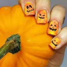 Whats Up Nails - Pumpkin Faces Nail Stencils Stickers Vinyls for Nail Art Design (1 Sheet, 20 Stencils) : Beauty