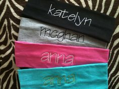Monogrammed Head Bands by monogrammedeverythng on Etsy, $6.00