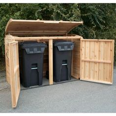 Refuse Storage Shed, Garbage And Recycling Attached To Main Shed Garbage  Shed, Garbage Can