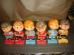 Original six bobble heads. That's the good ol' hockey game. Toronto, Original Six, Hockey Games, Sports Toys, Good Ol, Bobble Head, Nhl, Starters, Man Cave