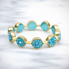 Teal Crystal Marquis Bracelet    Simply stated.