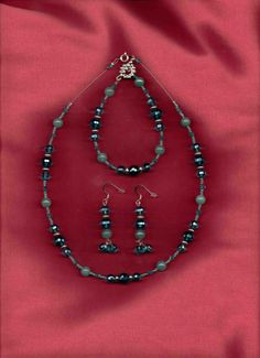 Blue Lagoon  Blue Crystal Jewelry Set by sunniescustomjewelry, $46.00