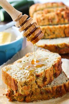 Paleo Zucchini Bread - moist, tender, and naturally sweetened. Enjoy along side a cup of coffee or as a light snack any time of day!                                                                                                                                                     More