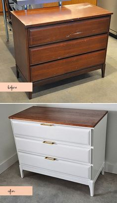 Before and After | Found Dresser. An amazing transformation by Visual Heart.