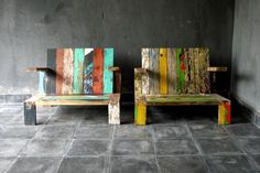 Boat wood chairs by blaxsand