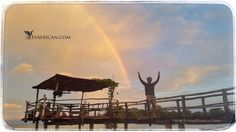 Thousands of years of mystery resolved. What's at the end of the rainbow? None other than Ryan and his pier at #NanchengwaLodge #LakeMalawi