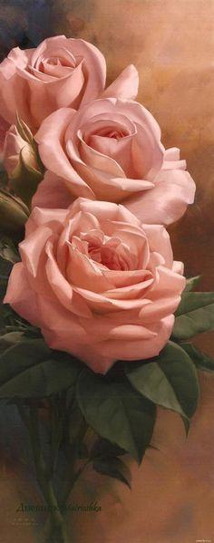 Схема вышивки «три розы»