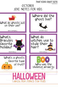Halloween Jokes, Halloween Cards, Holidays Halloween, Halloween Playlist, Autumn Activities For Kids, Halloween Activities, Crafts For Kids, Funny Jokes For Kids, Kid Jokes