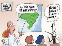 Ivan Cabral - charges e cartuns: Charge do dia: Mapa da Dengue