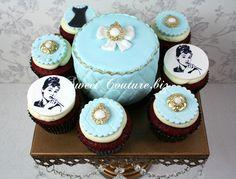 Cupcakes Redvelvet - Breakfast at Tiffany's, Audrey Hepburn