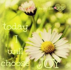 Choose joy quote via www.Facebook.com/IncredibleJoy